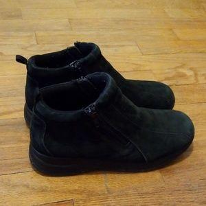 Dr Scholls black suede ankle boots